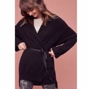 Moth | Anthropologie Black Wool Cardigan